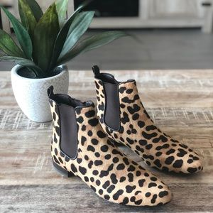 Tory Burch Orsay Calf Hair Leopard Chelsea Boots